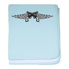 Pistols and Wings baby blanket