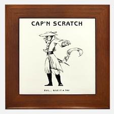 Cap'n Scratch Illustrations Framed Tile