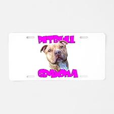Pitbull grandma Aluminum License Plate