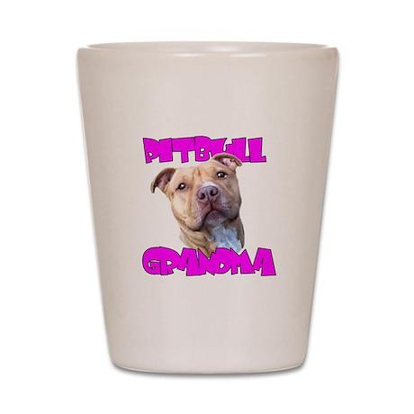 Pitbull grandma Shot Glass