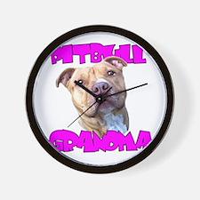 Pitbull grandma Wall Clock