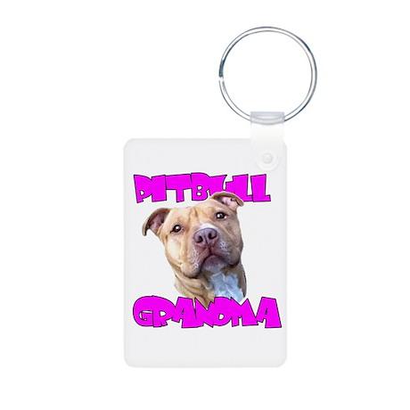 Pitbull grandma Keychains