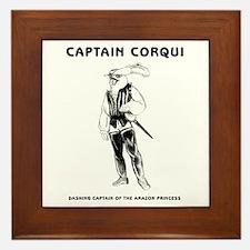Captain Corqui Illustrations Framed Tile