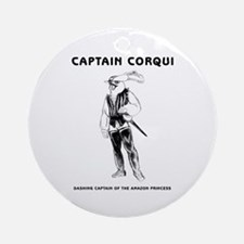 Captain Corqui Illustrations Ornament (Round)