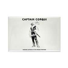 Captain Corqui Illustrations Rectangle Magnet