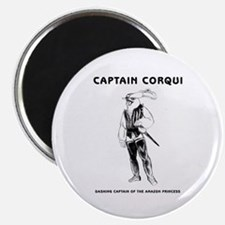 Captain Corqui Illustrations Magnet