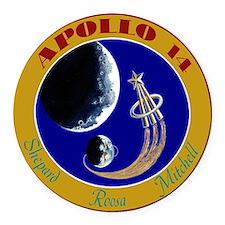 Apollo 14 Round Car Magnet