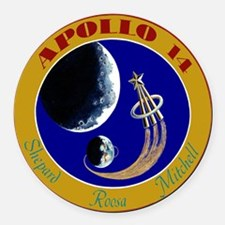 Apollo 14 Round Car Magnet