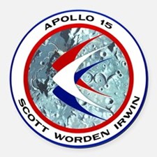 Apollo 15 Round Car Magnet