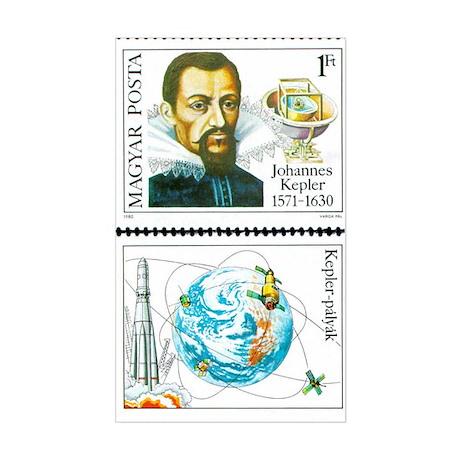 Johannes Kepler Rectangle Sticker