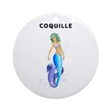 Coquille Illustrations Ornament (Round)