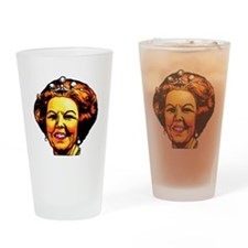 Queen with pearl earings Drinking Glass