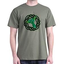 Green Celtic Parrot T-Shirt