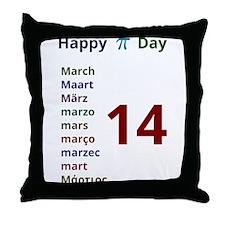 Happy Pi Day! Throw Pillow
