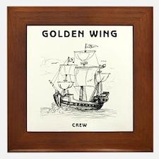 Golden Wing Crew Framed Tile