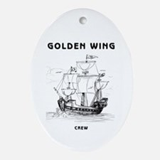 Golden Wing Crew Ornament (Oval)
