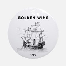 Golden Wing Crew Ornament (Round)