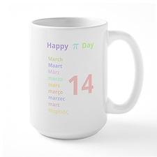 Happy Pi Day! (for dark background) Mug