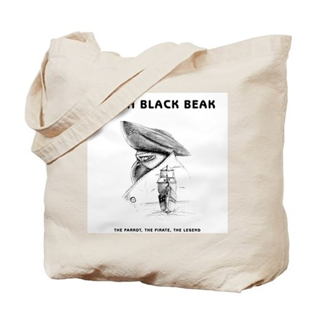 Black Beak Illustrations Tote Bag