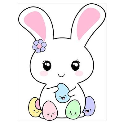 +kawaii_easter_bunny_wall_art_poster,802081818 on Parents 40th Wedding Anniversary T