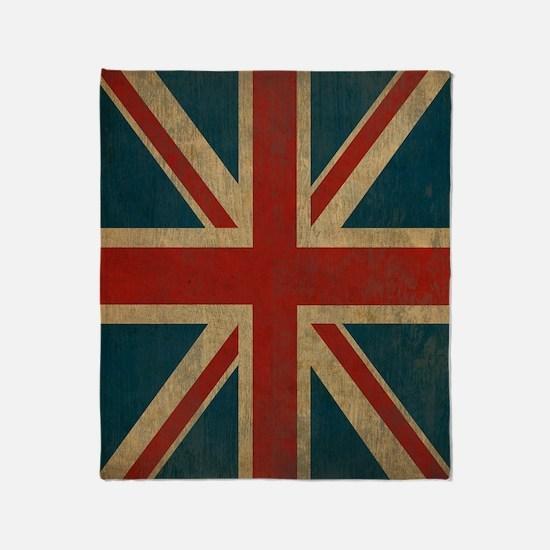 Cute United kingdom flag Throw Blanket
