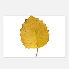 Golden Aspen Leaf Postcards (Package of 8)