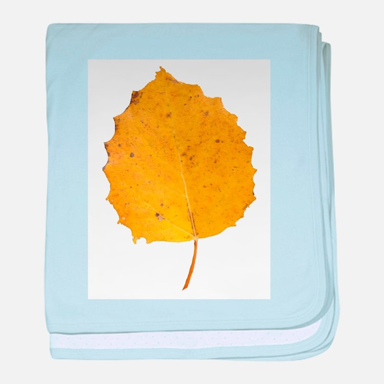 Golden Aspen Leaf baby blanket