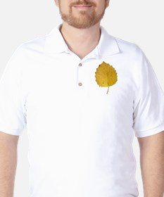 Golden Aspen Leaf T-Shirt
