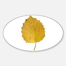 Golden Aspen Leaf Decal
