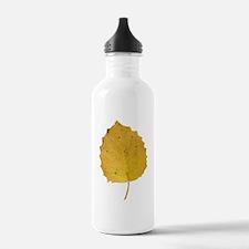 Golden Aspen Leaf Water Bottle