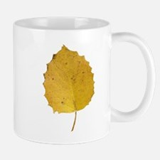 Golden Aspen Leaf Mug