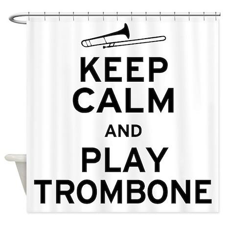 Keep Calm Trombone Shower Curtain