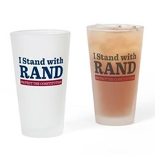 I Stand With Rand Drinking Glass