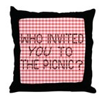 Picnic Ants Throw Pillow