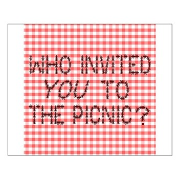 Picnic Ants Small Poster