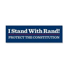 I Stand With Rand Car Magnet 10 x 3