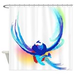 Abstract Bird in Flight Shower Curtain