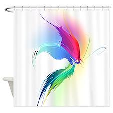 Abstract Butterfly Paint Splatter Shower Curtain