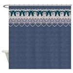 Blue Denim Shower Curtain