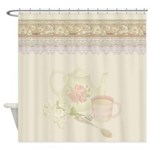 Vintage Tea Shower Curtain