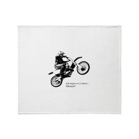 Dirtbike Throw Blanket
