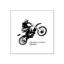 "Dirtbike Square Sticker 3"" x 3"""