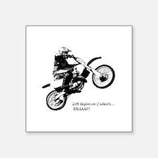 "Dirtbike Square Sticker 3"" x 3"""