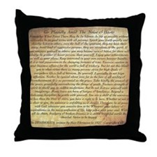 The Desiderata Poem by Max Ehrmann Throw Pillow