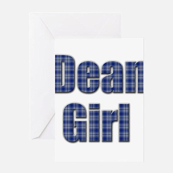 Dean Girl (blue plaid) Greeting Card