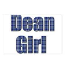 Dean Girl (blue plaid) Postcards (Package of 8)