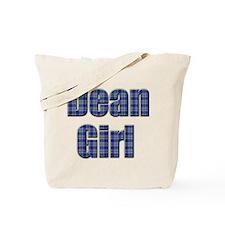 Dean Girl (blue plaid) Tote Bag