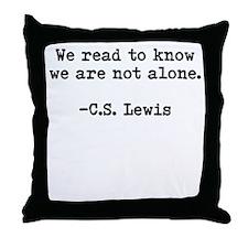 CS Lewis Not Alone Throw Pillow