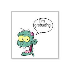 Im Graduation with Zombie Sticker