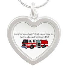 Autism firetruck Necklaces